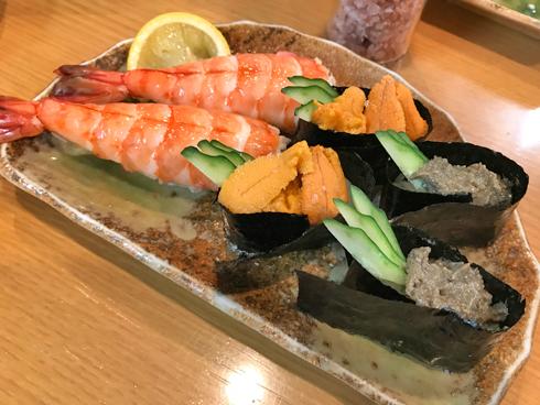 お寿司でシメ