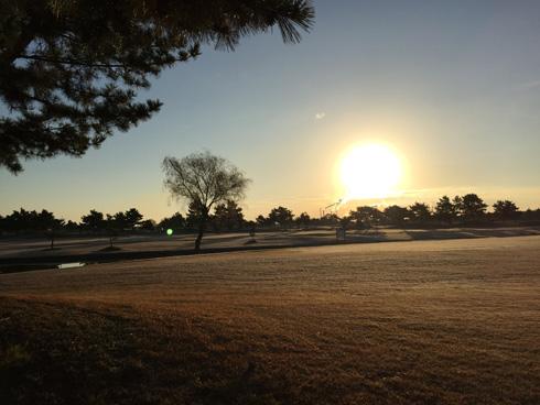 ゴルフ場はやっぱり朝日でしょう