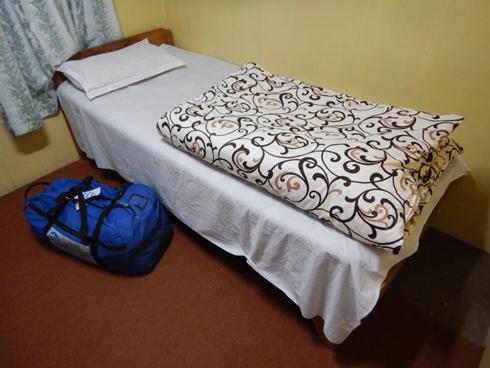 今夜は寝袋+お布団