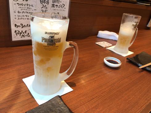 冷え冷えビールで乾杯