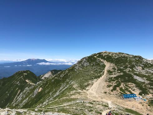 木曽駒ヶ岳山頂と御嶽山