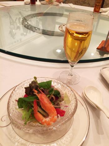 海鮮サラダ&ビール