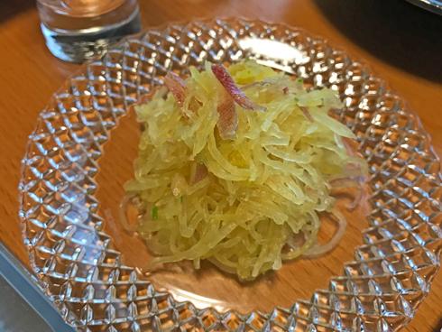 篠山の素麺カボチャでサラダ