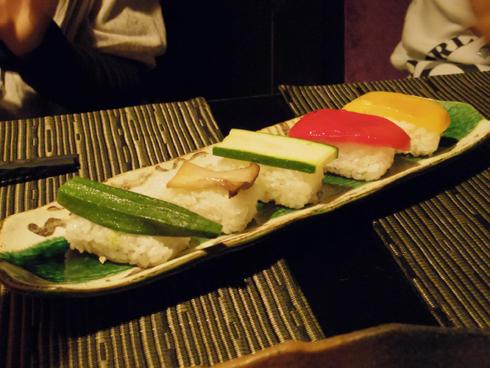 野菜の握り寿司