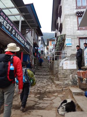 階段の町です