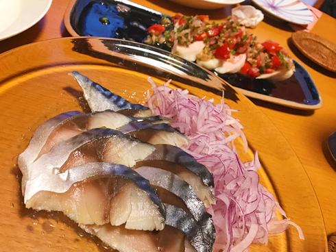 鶏の和風サルサ&とろシメ鯖